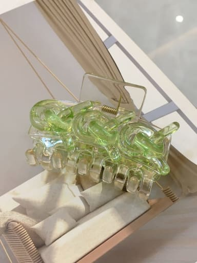 Green 6.7cm Acrylic Minimalist Geometric Alloy Jaw Hair Claw