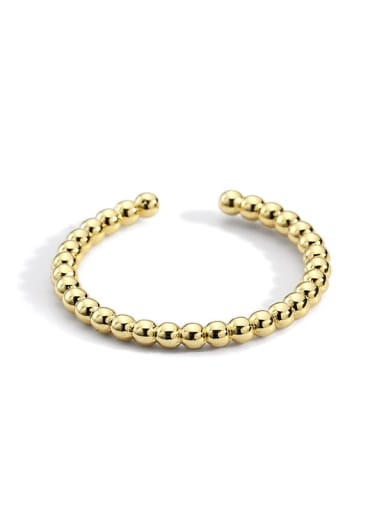 Gold bead ring Brass Bead Round Minimalist Band Ring
