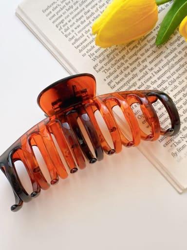 Caramel 11cm Alloy Resin Minimalist Geometric  Jaw Hair Claw