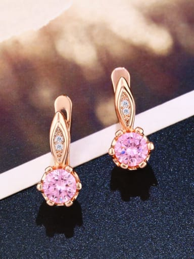 Alloy Glass Stone Geometric Dainty Stud Earring