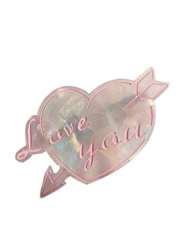 Cellulose Acetate Trend Heart Alloy Hair Barrette