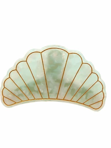 Cellulose Acetate Minimalist Scallop shell Jaw Hair Claw