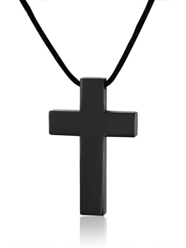 Titanium Steel Cross Minimalist Regligious Necklace