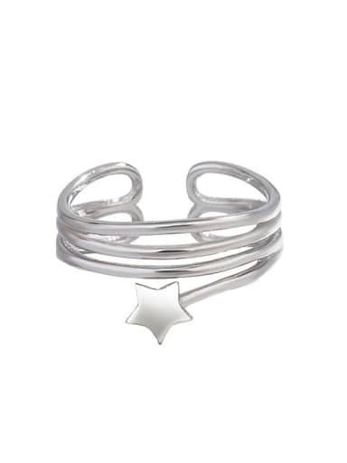 925 Sterling Silver Star Minimalist Stackable Ring