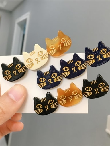 Cellulose Acetate Cute Cat Hair Barrette