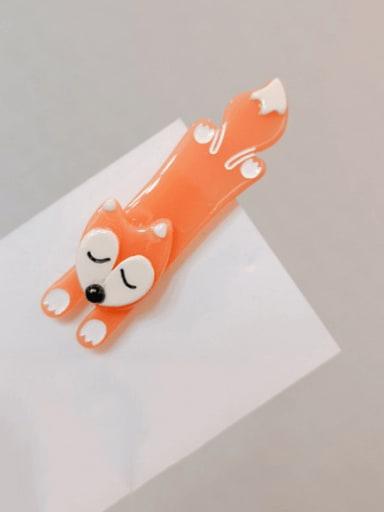Fox Cellulose Acetate Alloy Cute rabbit little fox side clip Hair Barrette