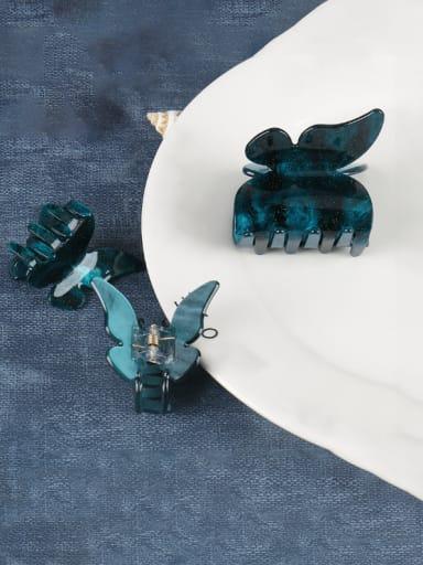 Dark green medium a Cellulose Acetate Minimalist Butterfly Zinc Alloy Jaw Hair Claw