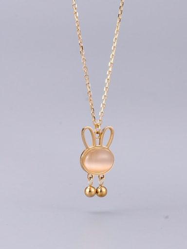 Titanium Steel Cats Eye Cat Minimalist Necklace