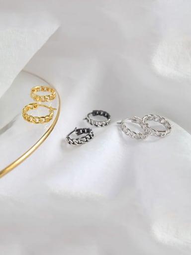S925 sterling silver simple Retro Chain Earrings