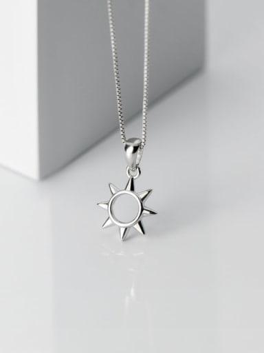 925 Sterling Silver Minimalist Flower Pendant(only Pendant)