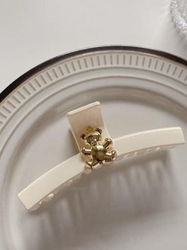 Beibai 10cm Acrylic Minimalist Geometric Alloy Jaw Hair Claw