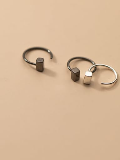925 Sterling Silver Geometric Minimalist Hook Earring