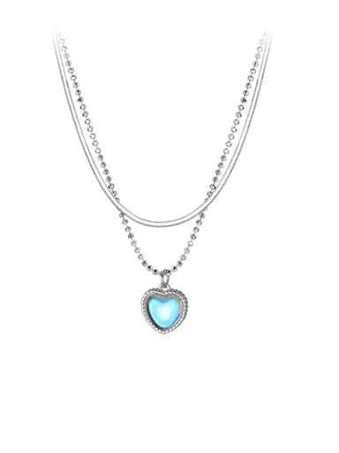 925 Sterling Silver Heart Minimalist Multi Strand Necklace