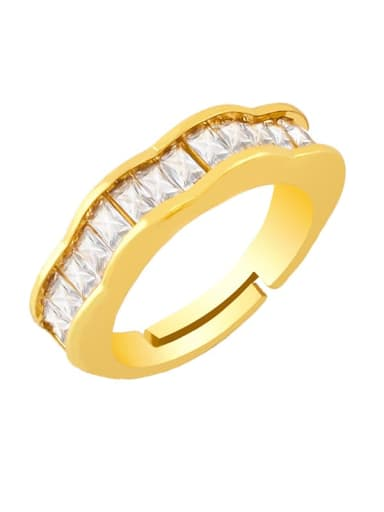 Brass Cubic Zirconia Butterfly Vintage Band Ring