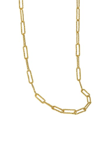 golden 925 Sterling Silver Geometric Minimalist Necklace