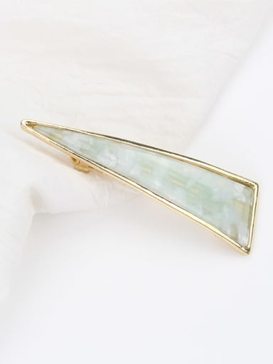 Fresh green Cellulose Acetate Simple and fashionable hollow triangle spring clip Hair Barrette