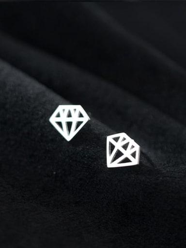 925 Sterling Silver Triangle Minimalist Stud Earring