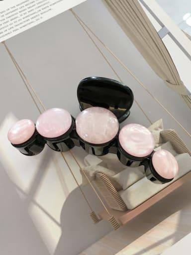 Light pink Cellulose Acetate Minimalist Geometric Jaw Hair Claw