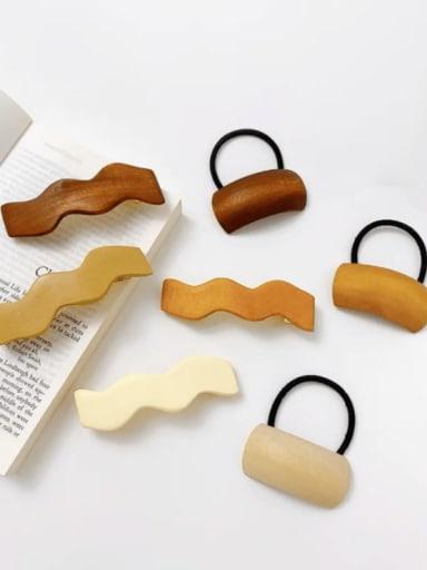 Wood Minimalist Geometric Alloy Hair Rope