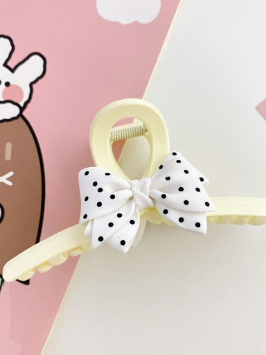 Off white 13cm Alloy Resin Silk Trend Bowknot  Jaw Hair Claw
