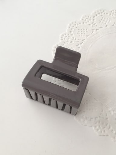 grey Cellulose Acetate Minimalist Geometric Alloy Jaw Hair Claw