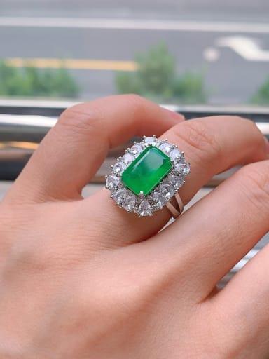 Copper Cubic Zirconia Geometric Luxury Band Ring