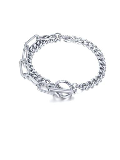 Titanium Steel Irregular Vintage Strand Bracelet