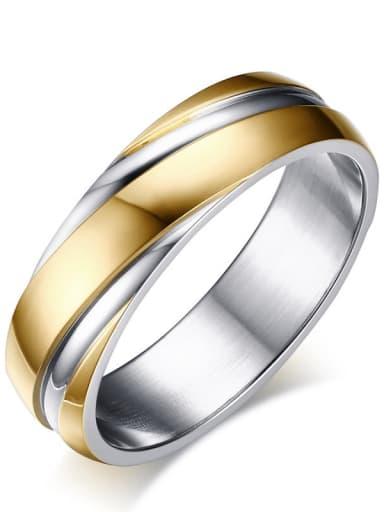 Titanium Steel Smooth Round Minimalist Band Ring