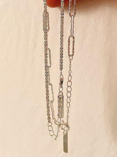 925 Sterling Silver Geometric Chain Hip Hop Link Bracelet