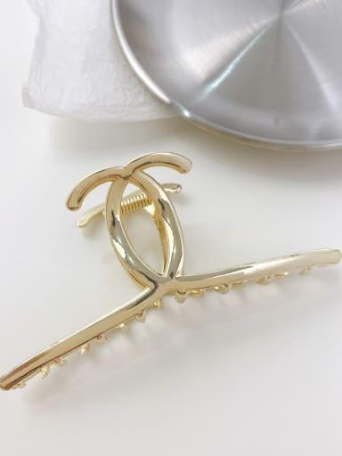 Gold 11cm Alloy Minimalist Irregular  Jaw Hair Claw