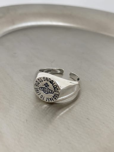 925 Sterling Silver Geometric Vintage Band Ring