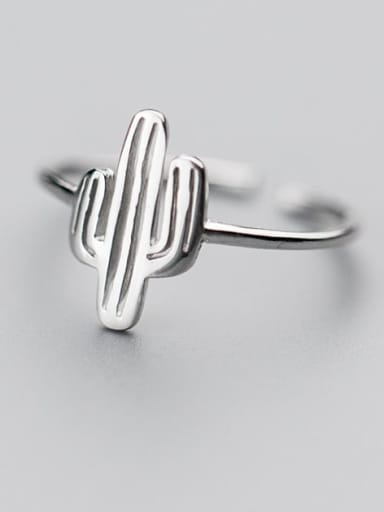 925 Sterling Silver Cactus Vintage Band Ring