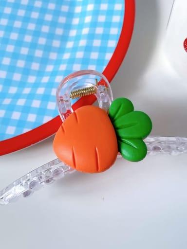 Carrot 11cm Alloy Resin Minimalist Friut  Jaw Hair Claw