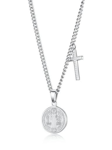 Titanium Cross Minimalist Necklace