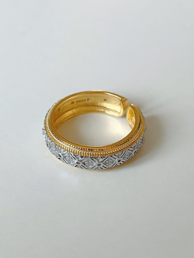 925 Sterling Silver    Fashion pattern Band Ring