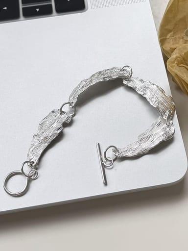 925 Sterling Silver Irregular Hip Hop Bracelet