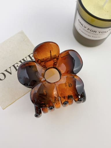 Amber 7cm Alloy Resin Trend Flower Jaw Hair Claw
