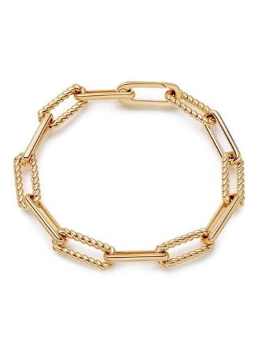 Brass Hollow Geometric Minimalist Necklace