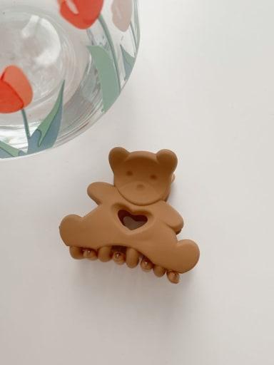Brown 4.5cm Alloy Resin Cute Little bear  Jaw Hair Claw