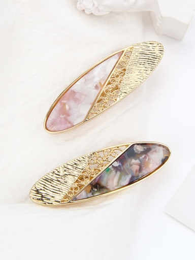 Cellulose Acetate Vintage  Hollow Geometric Alloy Hair Barrette