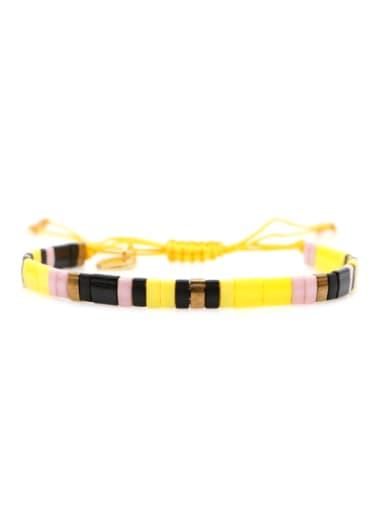 TL B190269A Stainless steel TILA Bead Multi Color Geometric Bohemia Handmade Weave Bracelet