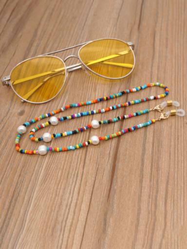 Stainless steel Bead Multi Color Acrylic Letter Bohemia Necklace
