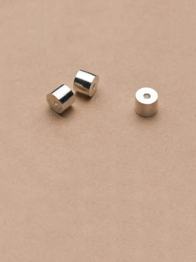 925 Sterling Silver With Smooth Cylinder Beads Diy Jewelry Accessories