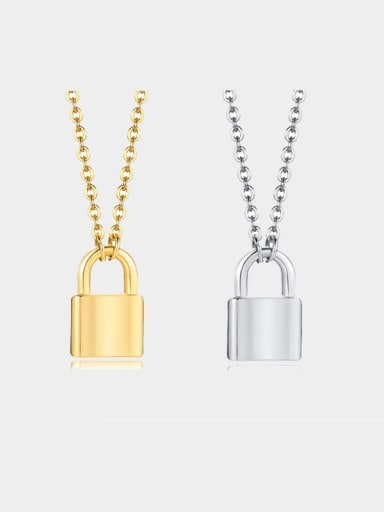 Titanium smooth Locket Minimalist pendant Necklace