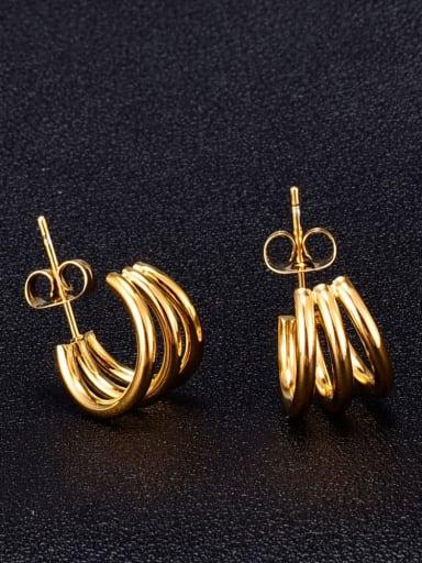 Titanium  smooth Irregular Minimalist Stud Earring