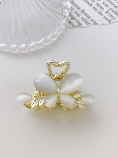 1 butterfly 4xm Alloy Cats Eye  Minimalist Butterfly  Jaw Hair Claw