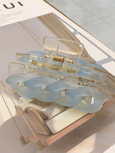 Blue 7 . 8cm Alloy  Acrylic Minimalist Geometric Jaw Hair Claw