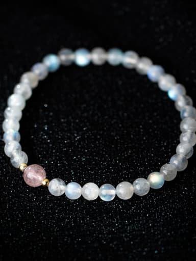 925 Sterling Silver Bead Geometric Minimalist Stretch Bracelet