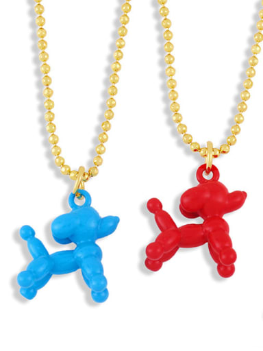 Brasel  Cute Cartoon Dog Pendat Necklaces