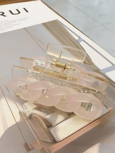 Pink 7.8cm Alloy  Acrylic Minimalist Geometric Jaw Hair Claw